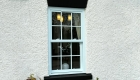 Coloured window light blue