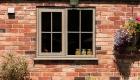 Irish oak coloured window cottage installation