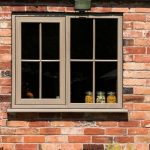 Irish oak coloured window cottage installation