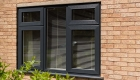 Black coloured window installation.