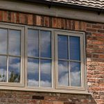 Irish oak coloured windows farm house installation