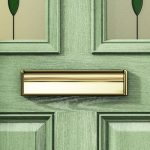 composite doors green close up