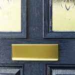 composite doors residential close up