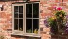 Double glazed upvc irish oak casement window