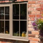 Double glazed upvc irish oak casement window