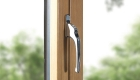 Double glazed uPVC window handle