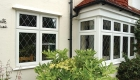 Double glazed uPVC leaded casement windows