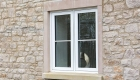 Double glazed uPVC casement window cottage installation