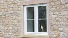 Double glazed uPVC casement window cottage installation