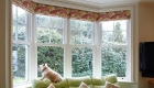 Energy efficient uPVC sash bay window