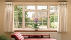 Energy efficient uPVC living room casement window