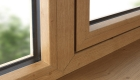 Energy efficient irish oak uPVC window
