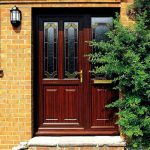 entrance doors wood finish