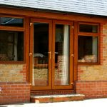 french doors wood finish