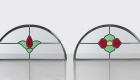 Glazing options for leaded semi circle panes
