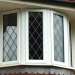 Leaded glazing option for uPVC bay window