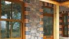 Glazing options wood finish
