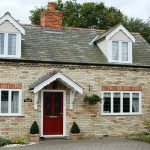 Triple glazed uPVC casement windows cottage installation