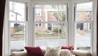 uPVC sash bay window internal
