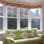White uPVC sash bay window internal