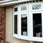 White uPVC casement window semi detached installation
