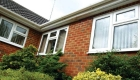 White uPVC casement window bungalow installation