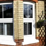 White uPVC casement bay window