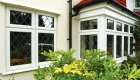 White uPVC leaded casement windows home installation