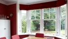 White uPVC casement bay window internal