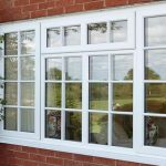 White uPVC bar casement window