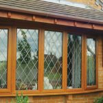 upvc windows wood finish