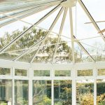 Conservatory roof replacement for a white PVCu installation