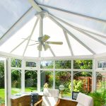 Conservatory roof replacement for a home installation