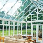 Glazed roof edwardian conservatory house installation
