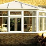White uPVC edwardian conservatory house installation