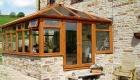 Irish oak edwardian conservatory house installation