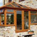 Irish oak edwardian conservatory house installation