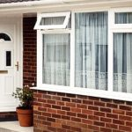 uPVC white entrance door