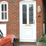 White uPVC entrance door with glazing options