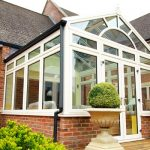 Exterior of a white uPVC Gable Conservatory