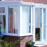White uPVC Lean To Conservatory home installation