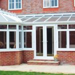 P Shaped PVCu Conservatory