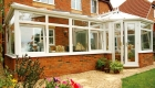 White PVCu P Shaped Conservatory