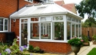 White uPVC Victorian Conservatory home installation