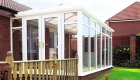 White uPVC Victorian Conservatory bungalow installation