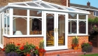 White PVCu Victorian Conservatory