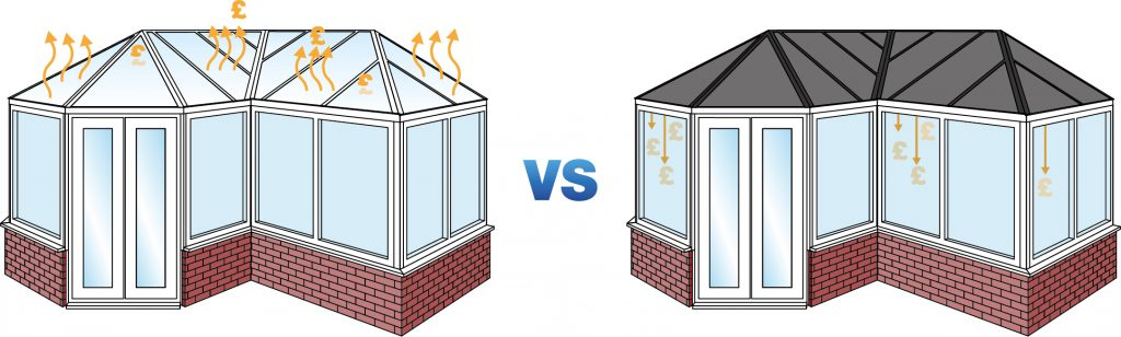 replacing your conservatory roof- polycarbonate vs solid