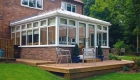 Edwardian conservatory decking