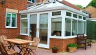 Edwardian conservatory french doors