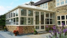 Edwardian conservatory paving